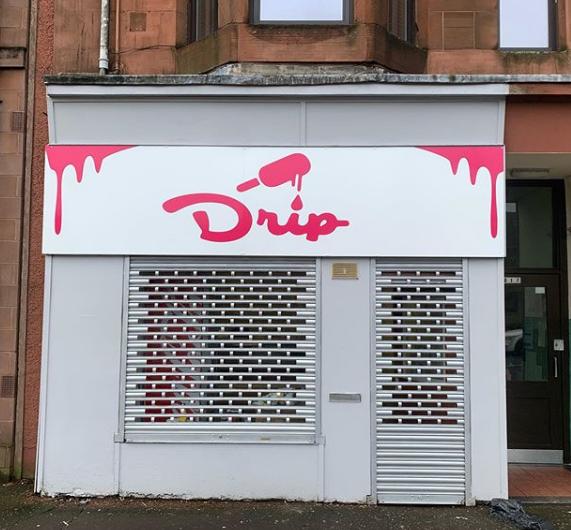 flat shop sign