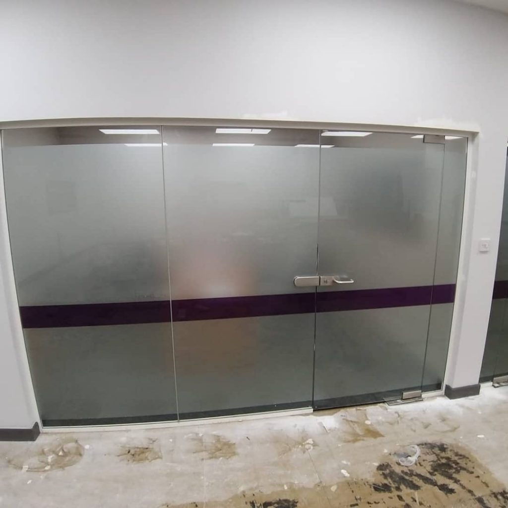 office partition window frosting
