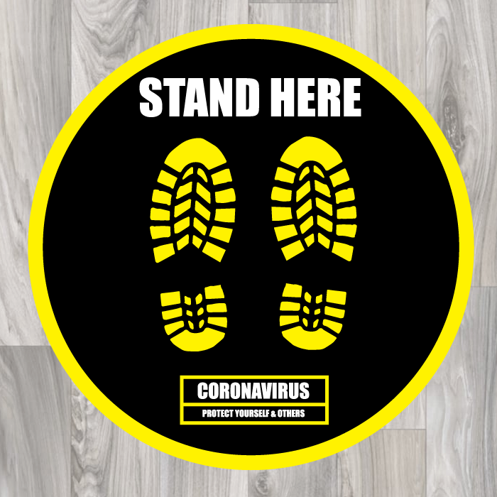 stand here floor sticker