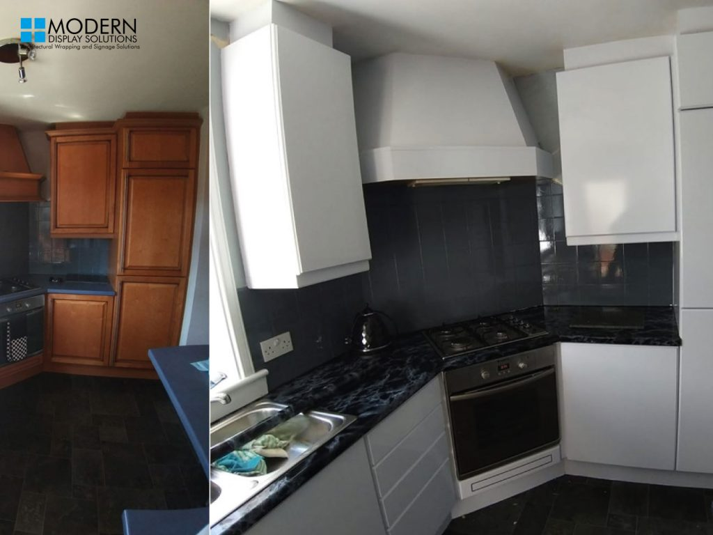 Before And After Kitchen Wraps Modern Display Solutions