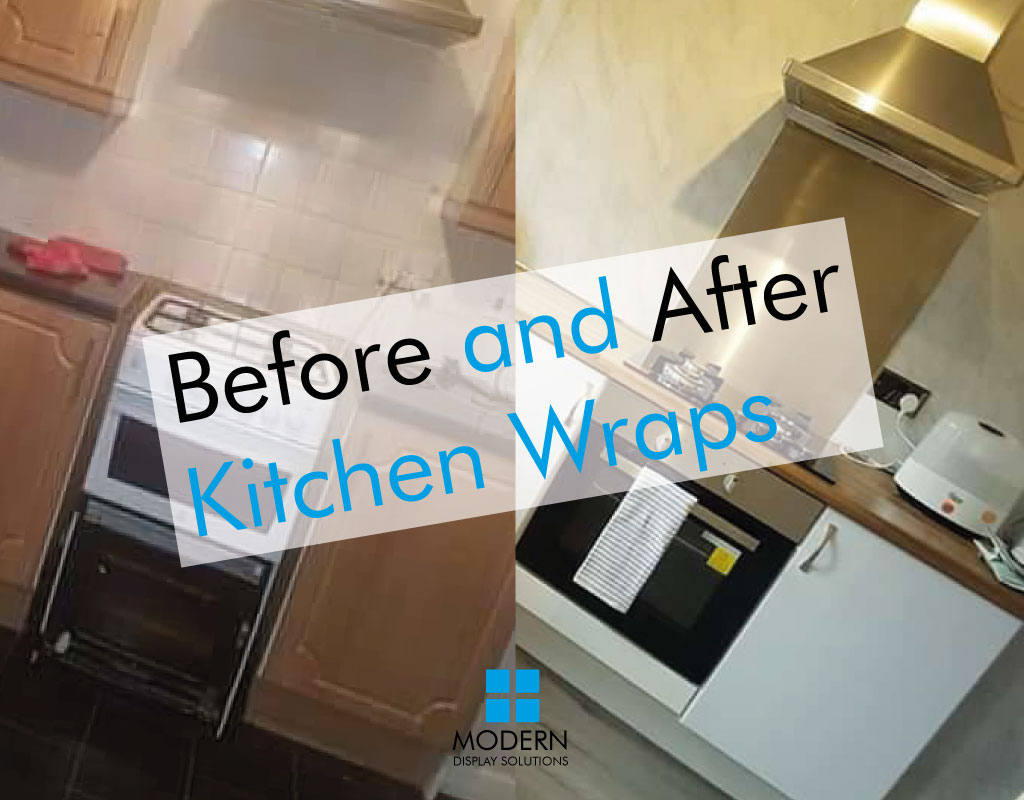 before and after kitchen wraps
